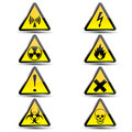 Warning signs on a white background Royalty Free Stock Photos