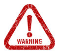 Warning stamp Royalty Free Stock Photos