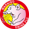 Warning swine flu virus Stock Images
