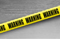 Warning tape Royalty Free Stock Photo