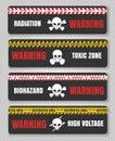 Warning tape with skulls