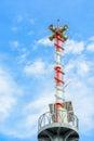 Warning tower tsunami at the beach Royalty Free Stock Photography