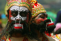 Warok dancer in java a traditional reog dance with a character central indonesia Stock Image