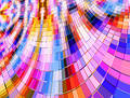 Warped Multi Colour Mosaic Stock Photo