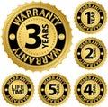 Warranty golden label set Royalty Free Stock Photo