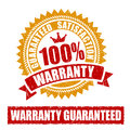 Warranty rubber stamp percent Stock Image