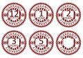 Warranty stamps rubber set on a white background vector Stock Images