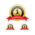 Warranty symbols against white background Royalty Free Stock Photos