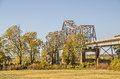 Warren Truss Bridge Over the Mississippi River Royalty Free Stock Photo