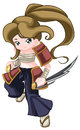 Warrior kid a digitally illustrated Royalty Free Stock Photo