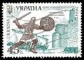 Warrior of Oleg the Prophetic Royalty Free Stock Photo