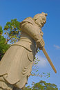 Warrior Statue Holding a Short Sword Royalty Free Stock Photo