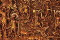 Warriors On Carvings Royalty Free Stock Photo