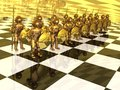 Warriors on the chess-board Stock Photography