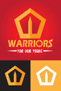 Warriors logo illustration of a for a team of sports or any kinda use as a symbol Stock Photo