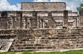 Warriors Temple Chichen Itza Mexico Royalty Free Stock Photography