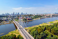 Warsaw bird s eye view Royalty Free Stock Photos