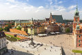 Warsaw Castle Square in the old town Royalty Free Stock Photo