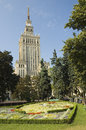 Warsaw downtown view of poland Royalty Free Stock Images