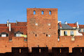Warsaw Old Town Wall and Tower Royalty Free Stock Images