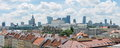 WARSAW, POLAND - JUNE 16: Warsaw cityline panorama with view of Royalty Free Stock Photo