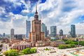 Warsaw, Poland. Palace of Culture and Science, downtown. Royalty Free Stock Photo