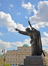 WARSAW, POLAND. A statue of Jesus Christ bearing a cross Royalty Free Stock Photo