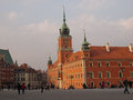 Warsaw poland view of royal castle Royalty Free Stock Images