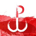 The Warsaw Uprising on white red backgrounds object abstract