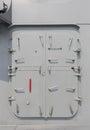 Warship - security door Royalty Free Stock Photo