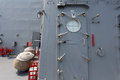 Warship - security door Royalty Free Stock Photo