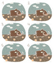 Warthog visual game children illustration eps mode task find two identical images match pair answer no Stock Photo
