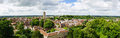 Warwick old town panoramic view of the Royalty Free Stock Photo