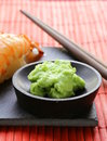 Wasabi mustard sauce for japanese food Royalty Free Stock Photography