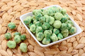 Wasabi peas Royalty Free Stock Photography