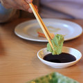 Wasabi and soy sauce seasoning of japanese food Royalty Free Stock Photos
