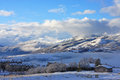 Wasatch front mountains utah winter in the Royalty Free Stock Image