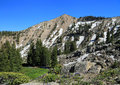 Wasatch mountains alpine landscape in the utah usa Royalty Free Stock Photo