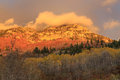 Wasatch sunset with aspens utah autumn landscape in the mountains usa Royalty Free Stock Image