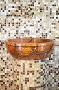 Wash basin made of stone Stock Image