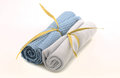 Wash cloths rolled up for spa treatment Royalty Free Stock Images