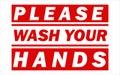 Wash Your Hands Covid-19 corona virus. Royalty Free Stock Photo