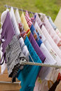 Washday in spring Royalty Free Stock Photo