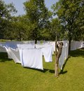 Washed linens Royalty Free Stock Photo
