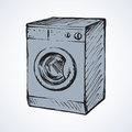 Washer. Vector drawing