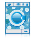 Washer washing machines are blue with a white background Royalty Free Stock Image