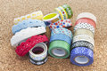 Washi tape rolls different types of Stock Photography
