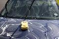 Washing car Royalty Free Stock Images