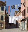 Washing day, Venice Royalty Free Stock Photo