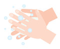Washing hands with soap. hand hygiene